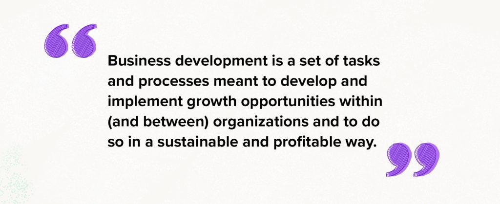 definition of business development