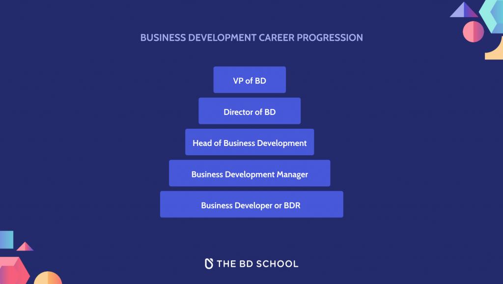 the business development school - career progression in business development